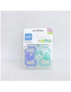 CHUPETE SILICONA MAM AIR 16 M PACK DOBLE