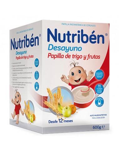 NUTRIBEN DESAYUNO PAPILLA DE TRIGO CON FRUTA 600 GR