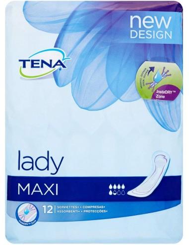 TENA LADY MAXI 12 UNIDADES