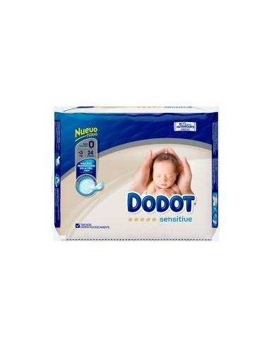 PAÑAL INFANTIL DODOT SENSITIVE RECIEN NACIDO T- 0 3 KG 24U