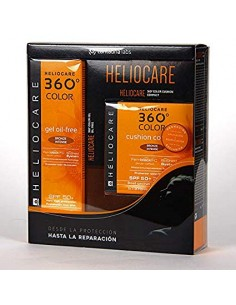 HELIOCARE 360 PACK GEL OIL FREE BRONZE INTENSO + CUSHION BRONZE INTENSO