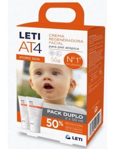 LETI AT 4 CREMA FACIAL 50ML DUPLO 50%DTO