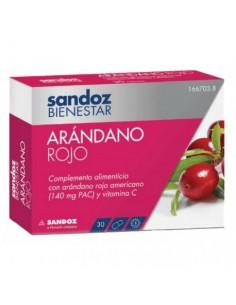 SANDOZ BIENESTAR ARANDANO 30 UNIDADES