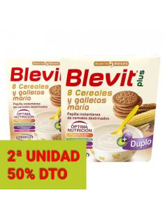 BLEVIT PLUS 8 CEREALES Y GALLETAS BIPACK 2 X 600 G PACK AHORRO