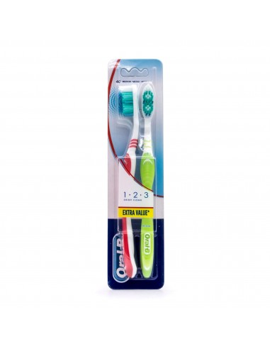 CEPILLO DENTAL ADULTO DUPLO ORAL-B ADVANTAGE 1,2,3 MEDIO