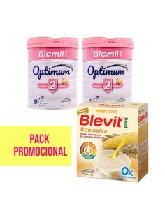 BLEMIL PLUS 2 OPTIMUM 2 UDS + BLEVIT PLUS BIBE 8 CEREALES PACK