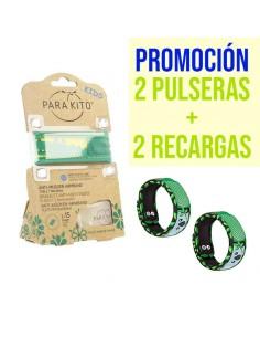 PARAKITO PACK 2 PULSERAS ANTIMOSQUITOS + RECAMBIO