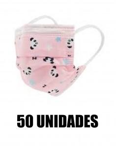 MASCARILLA QUIRURGICA INFANTIL ROSA DIBUJOS 50 UNIDADES