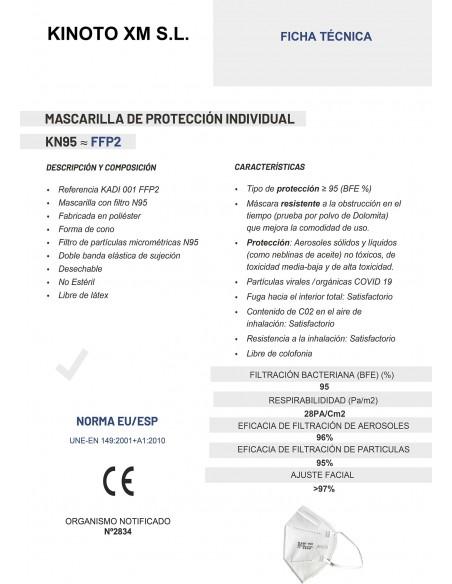 MASCARILLA FFP2 KADI COLOR BLANCO ADULTO 25 UNID_CERTIFICADO1