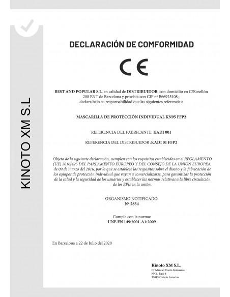 MASCARILLA FFP2 KADI COLOR BLANCO ADULTO 25 UNID_CERTIFICADO3