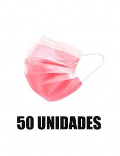 MASCARILLA QUIRURGICA ROSA ADULTOS 50 UNIDADES