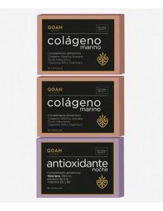 GOAH CLINIC PACK 2 COLAGENO MARINO + 1 ANTIOXIDANTE NOCHE