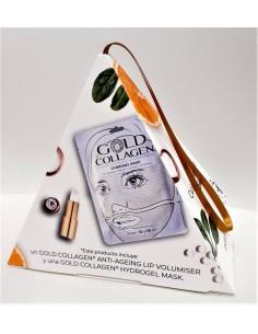GOLD COLLAGEN PACK ANTI-AGEING LIP VOLUMISER + HYDROGEL MASK