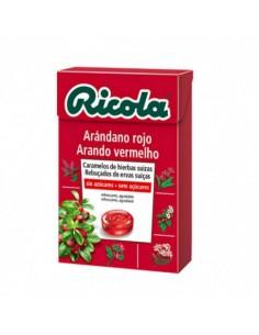RICOLA CARAMELOS SIN AZUCAR SABOR ARANDANO ROJO 50 GRS