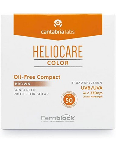 HELIOCARE PROTECTOR SOLAR COLOR OIL-FREE COMPACT BROWN SPF50
