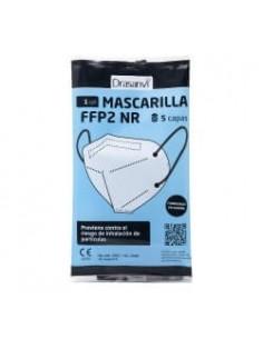 MASCARILLA FFP2 BLANCA ADULTO DRASANVI 25 UNIDADES (FAB. ESPAÑA) DELANTE