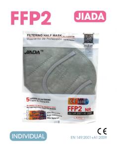 MASCARILLA FFP2 GRIS ADULTO 20 UNIDADES
