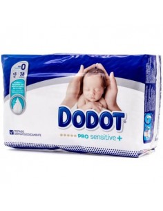 DODOT PRO SENSITIVE PAÑAL INFANTIL TALLA 0 HASTA 3 KG 38 UNIDADES