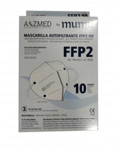 MASCARILLA FFP2 MUMU BLANCO 10 UNIDADES