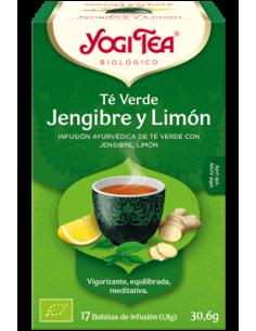 YOGI TEA TÉ VERDE JENGIBRE Y LIMÓN