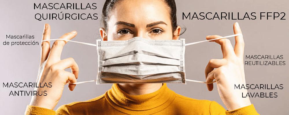Mujes con mascarilla quirurgica de proteccion contra virus o mascarilla antivirus