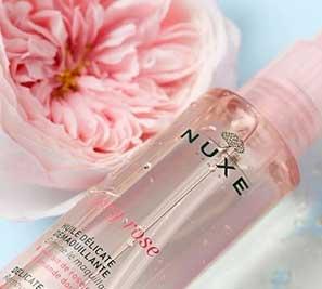 nuxe very rose aceite limpiador y desmaquillante