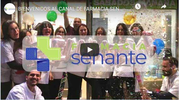 Canal de Farmacia Senante en Youtube