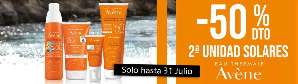 Descuento solares Avene 50% Farmacia Senante